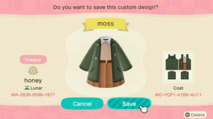 Fall Outfits Animal Crossing - green cardigan and tan skirt