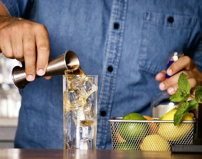 Popular Cocktails - Bartender Mixing Drink