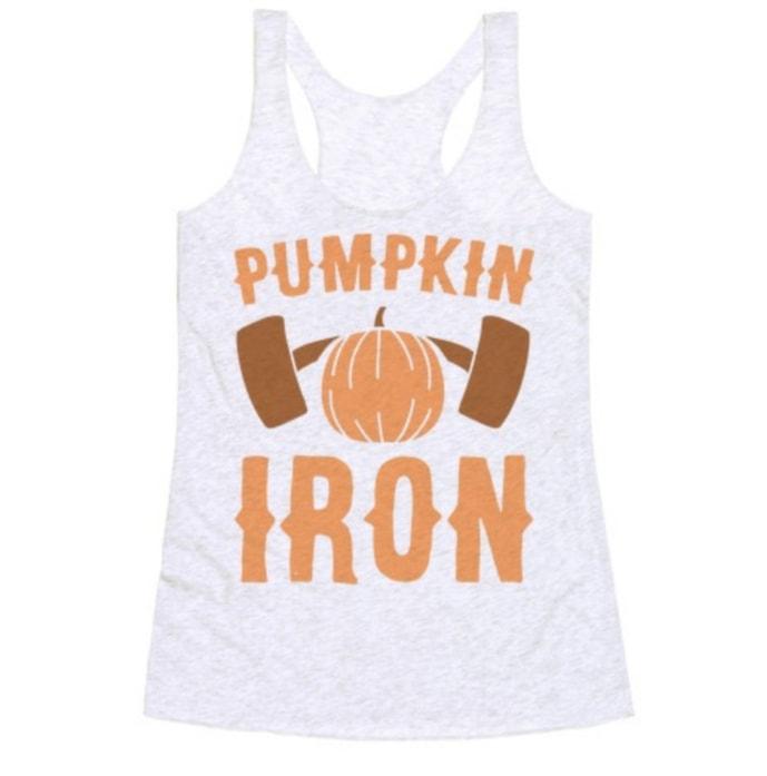 Pumpkin Puns - pumping iron