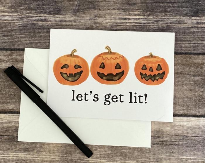Pumpkin Puns - let's get lit