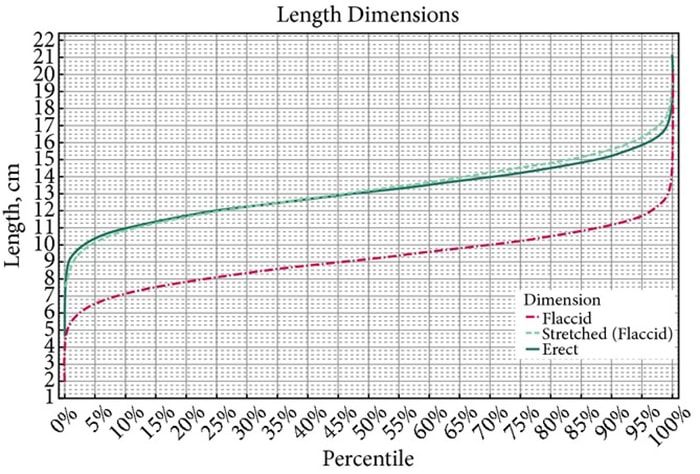 Average Girth Size - Length chart
