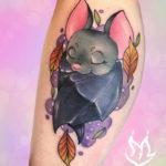 Bat Tattoos - Sleeping Fall Leaves