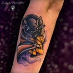 Bat Tattoos - With Crystal and Gold