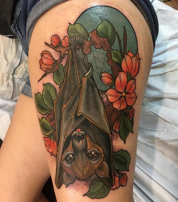 Bat Tattoos - Fruit