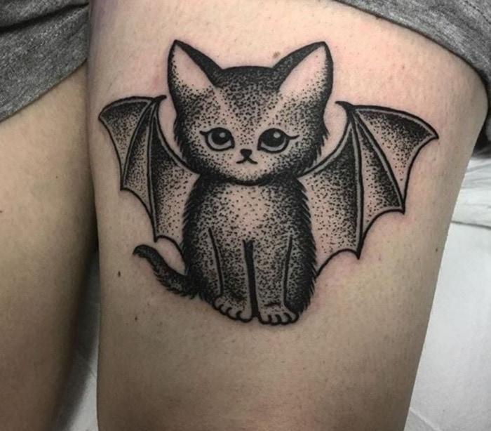 Bat Tattoos - Catbat