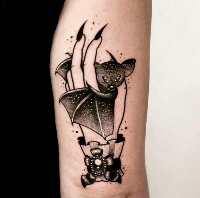 Bat Tattoos - Witch Familiar
