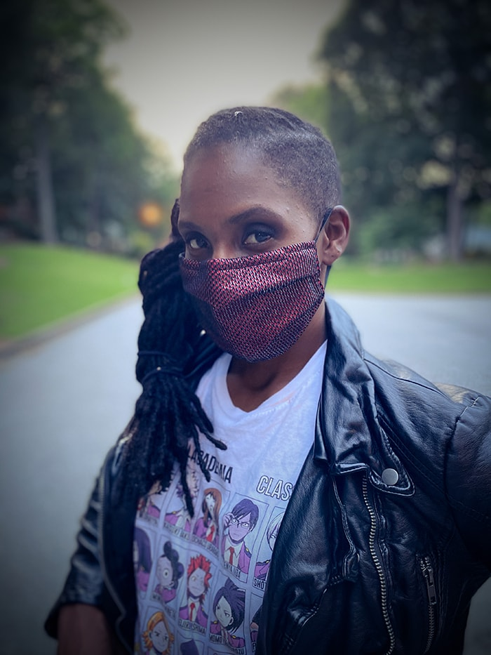 Cool Face Masks - Red Snakeskin
