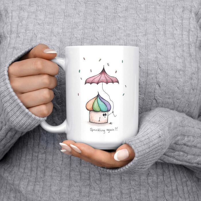 Cupcake puns - Sprinkling again mug