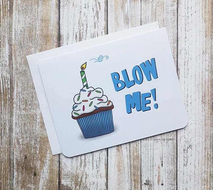 Cupcake puns - Blow me card