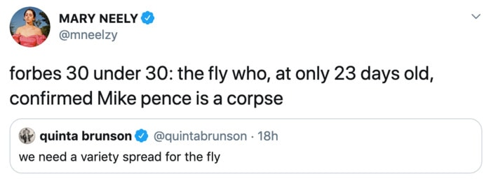 Fly Memes Mike Pence - corpse