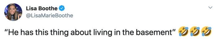 Debate Tweets - biden living in a basement
