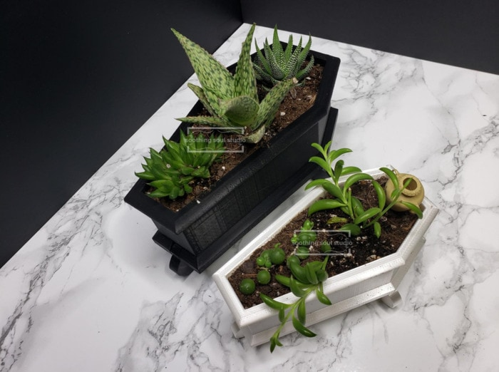 Goth Gift Guide - Coffin Planters