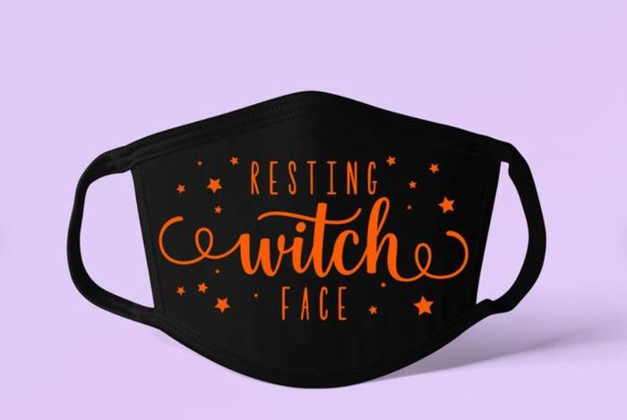 Halloween Face Masks - Resting witch face