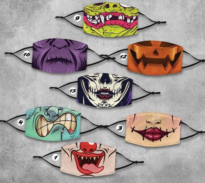 Halloween Face Masks - Characters