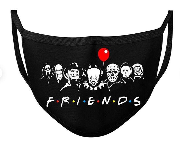Halloween Face Masks - Horror film friends