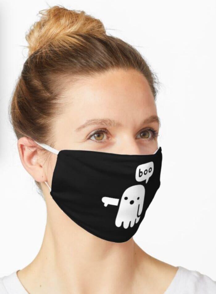 Halloween Face Masks - Ghost Boo