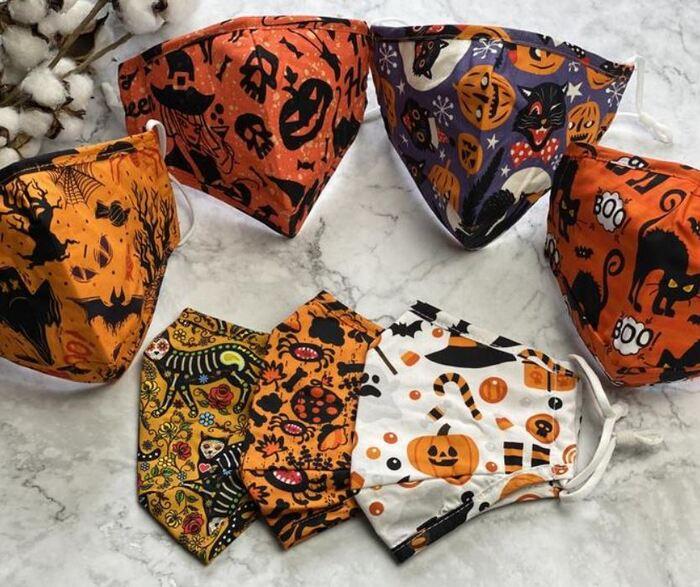 Halloween Face Masks - Pumpkin