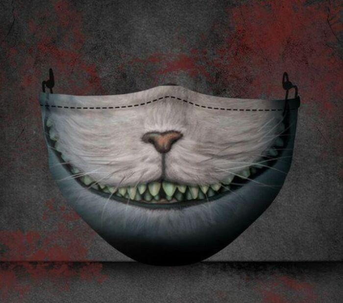 Halloween Face Masks - Cheshire cat
