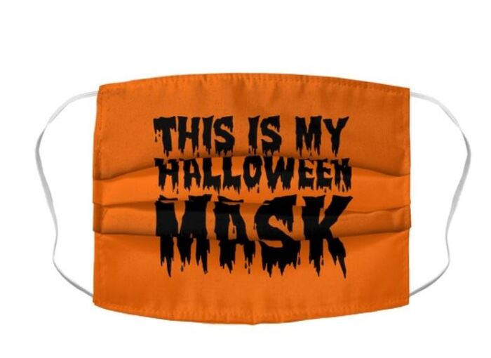 Halloween Face Masks - This is my Halloween print mask