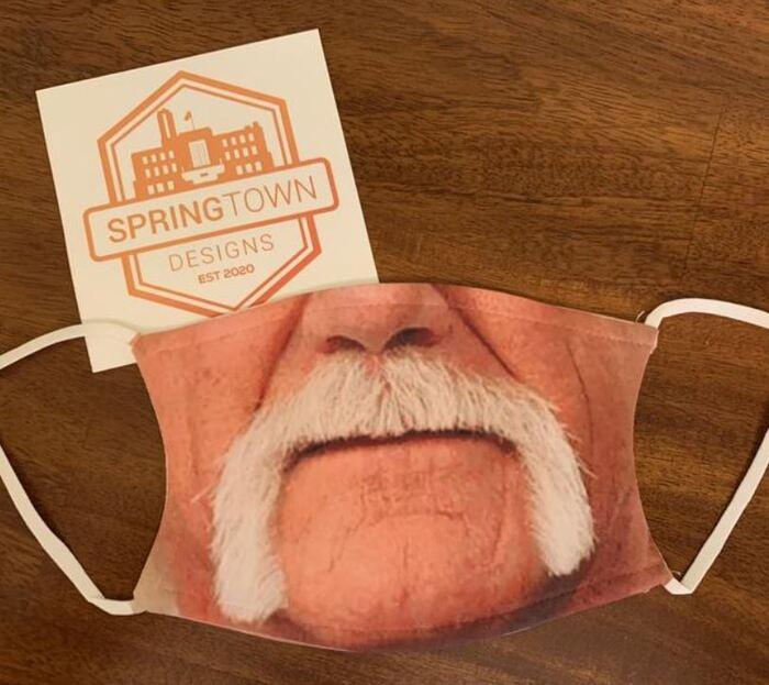 Halloween Face Masks - Handlebar Mustache