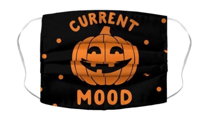 Halloween Face Masks - Current Mood Pumpkin