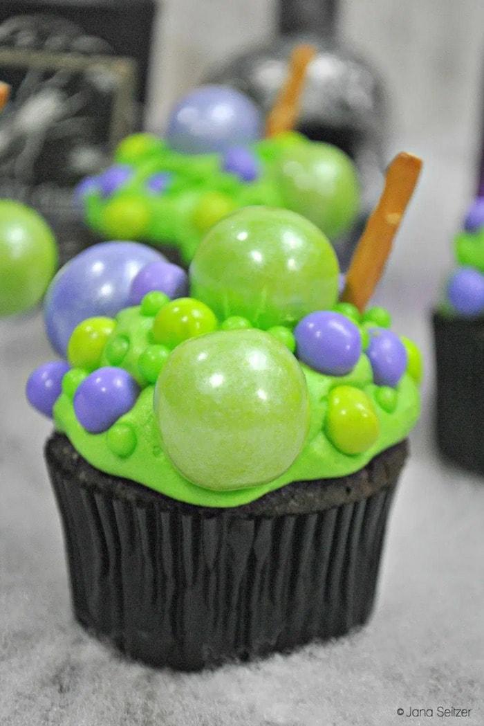 Hocus Pocus Desserts - Cauldron Cupcakes
