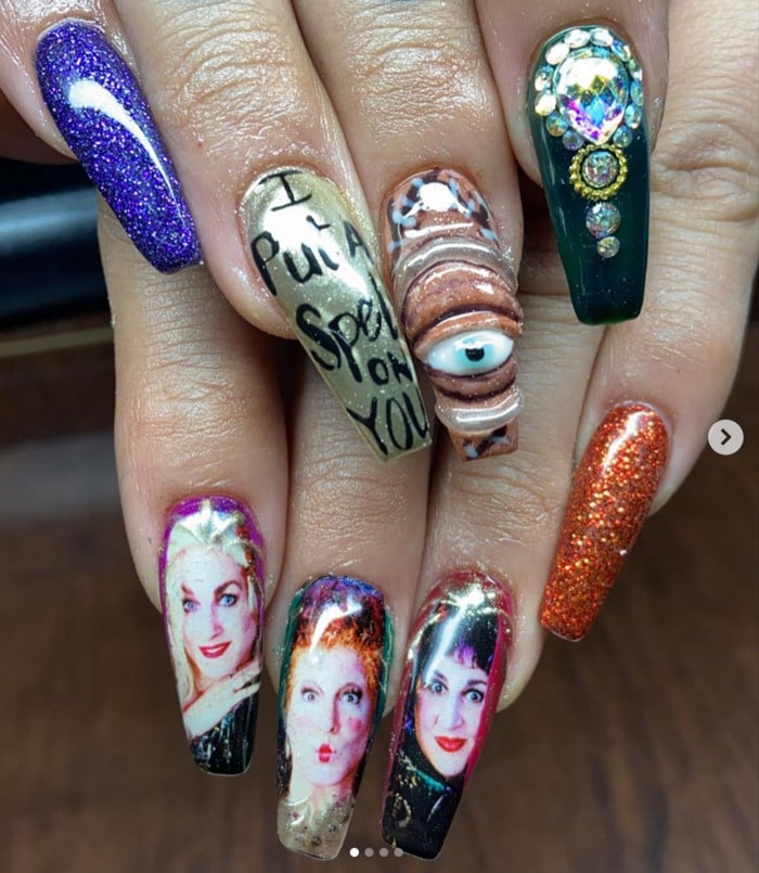 Hocus Pocus Nail Art - I Put a Spell On You
