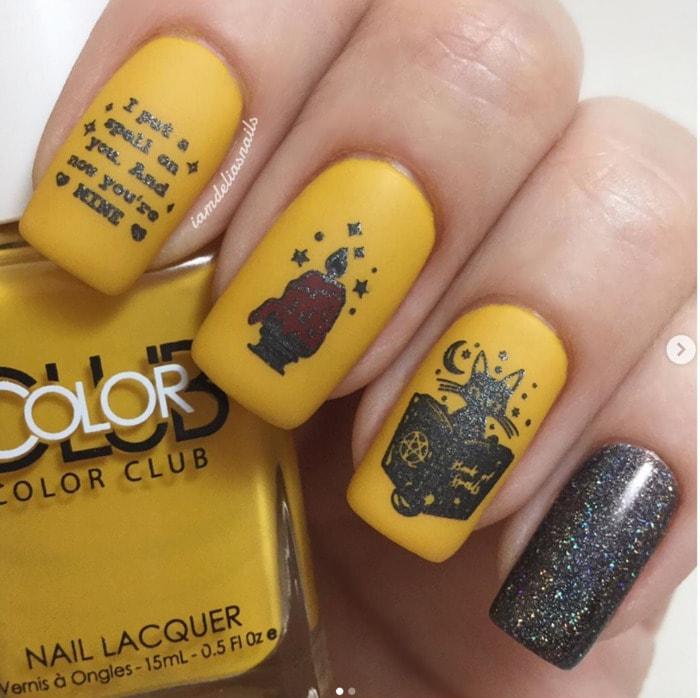 Hocus Pocus Nail Art - Golden
