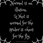 Morticia Addams Quotes - Normal is an illusion. What is normal for the spider is chaos for the fly.