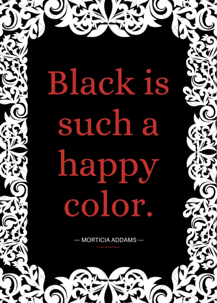 Black is such a happy color.