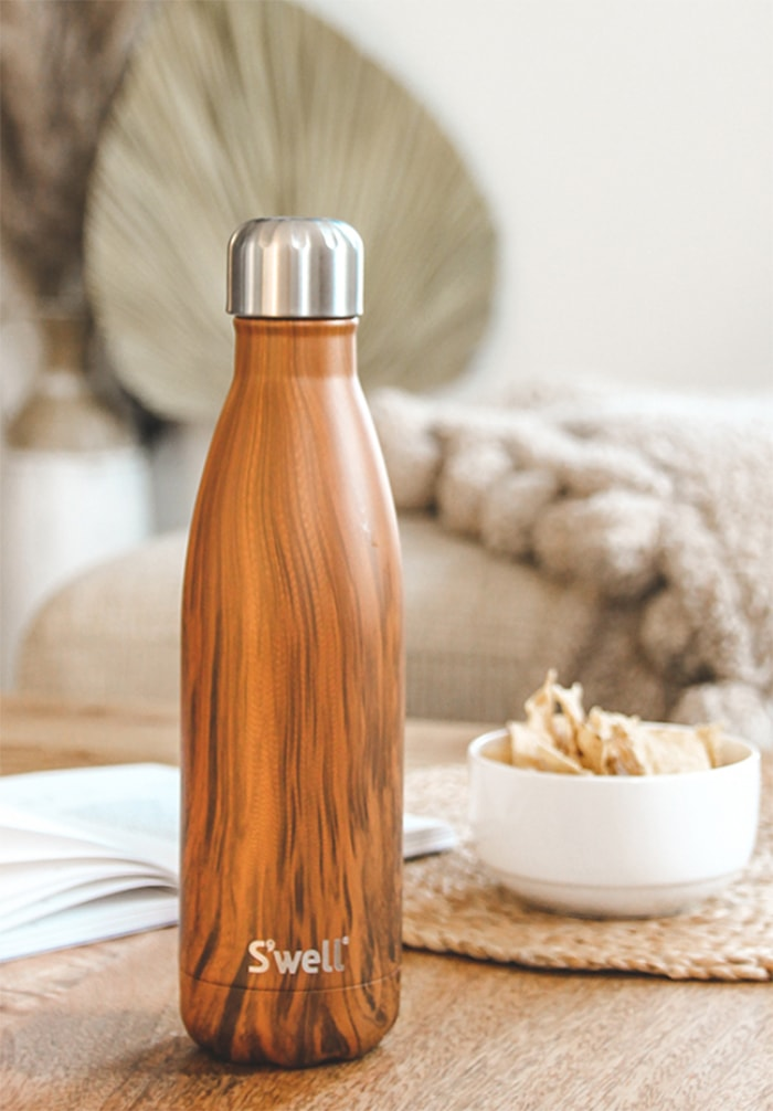Mother's Day Gift Ideas Food - Swell Teakwood Water Bottle