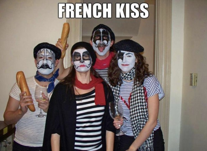 Punny Halloween Costumes - French Kiss