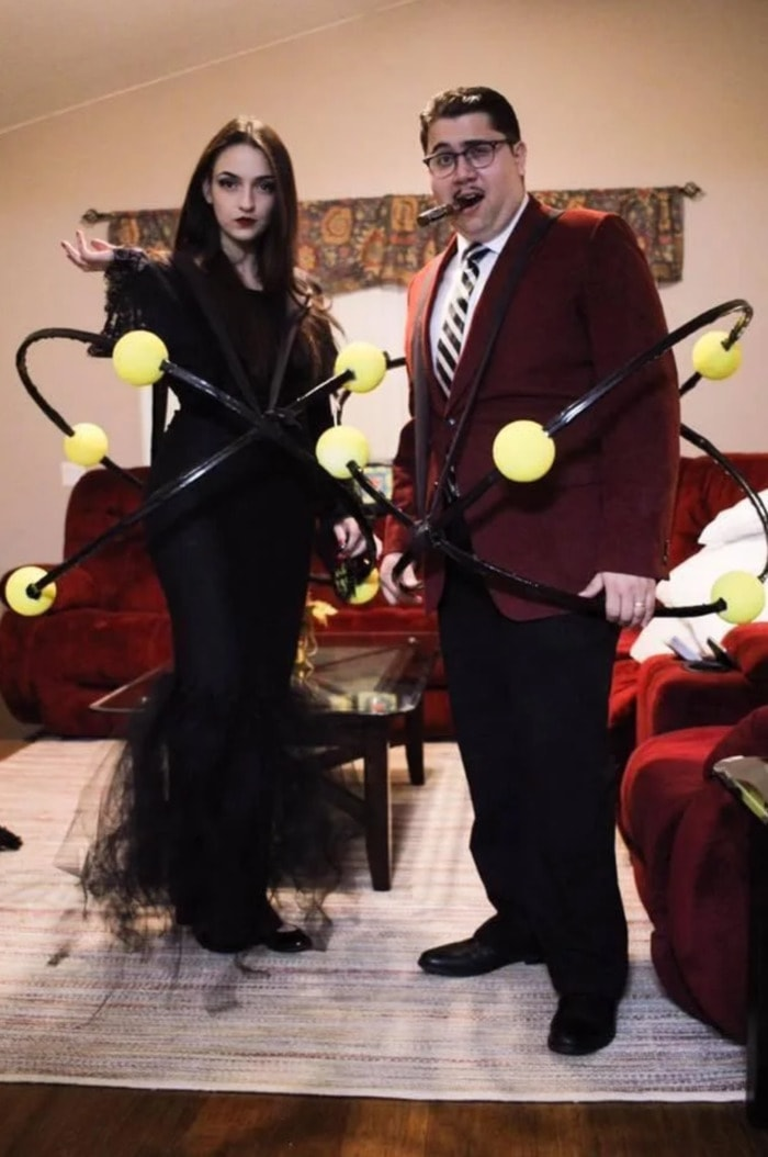 Punny Halloween Costumes - Atoms Family