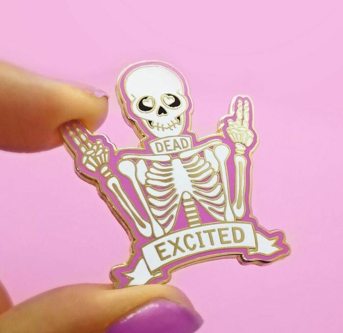Skeleton Puns - Dead Excitied