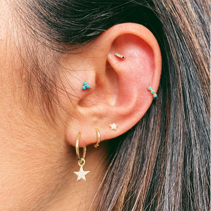 Tragus Piercings - turquoise