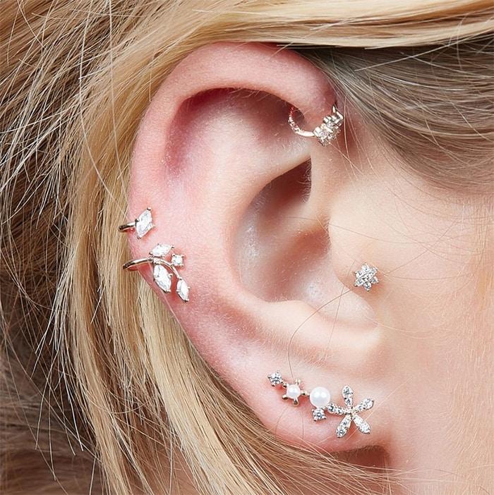 Tragus Piercings - diamond