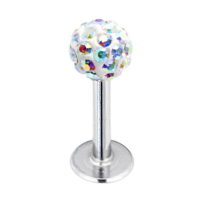 Tragus Piercing - Disco ball silver stud