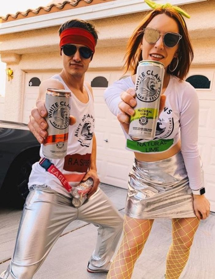 White Claw Halloween Costume - Spacey duo