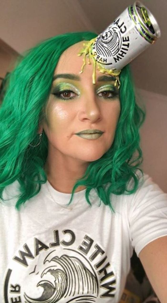 White Claw Halloween Costume - Green scary zombie
