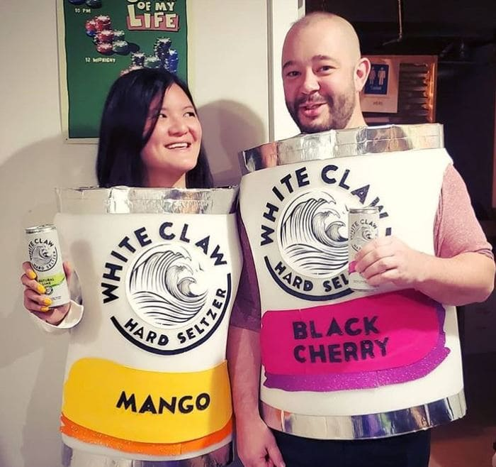 White Claw Halloween Costume - White Clare Can Outfit