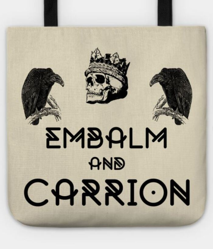 Witch puns - Embalm and carrion