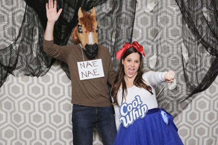 funny couples costumes - whip nae nae Cool whip and a horse