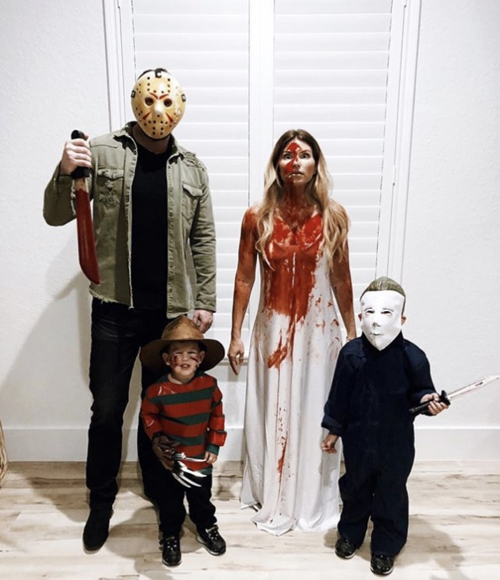 funny couples costumes - Killer family