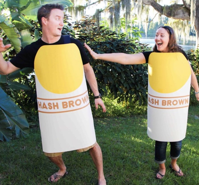 funny couples costumes - Hashtag hashbrowns