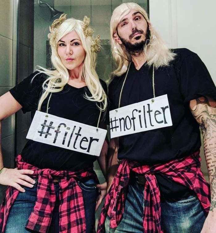 funny couples costumes - Filter no filter