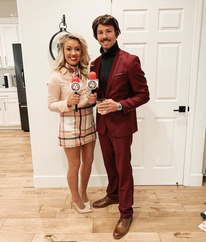 funny couples costumes - Ron and Veronica from Anchorman