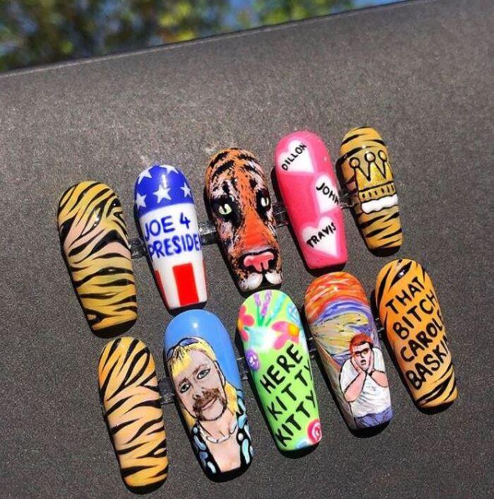 2020 Nails - Tiger King