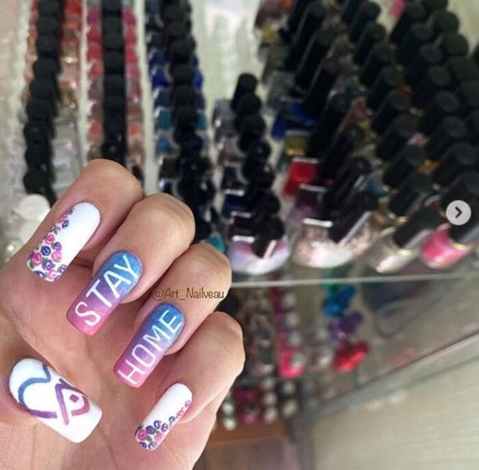 2020 Nails - Stay at home theme