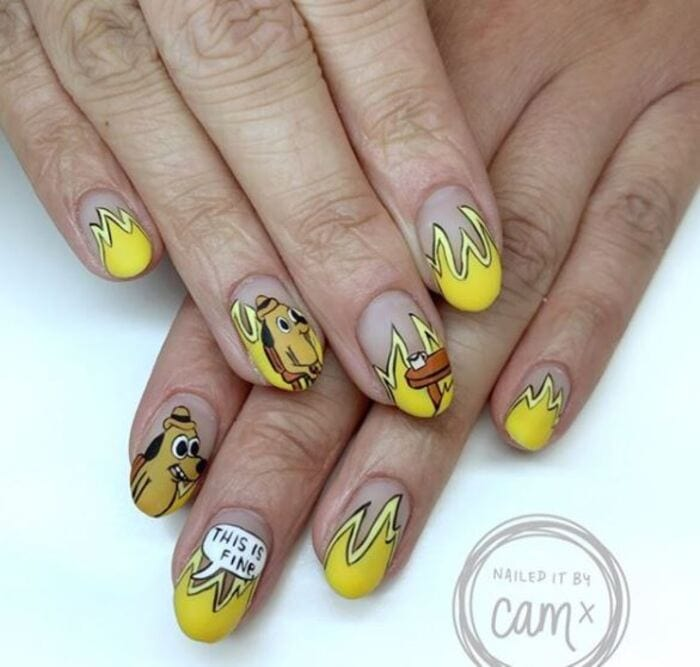 2020 Nails - Everything is fine nails