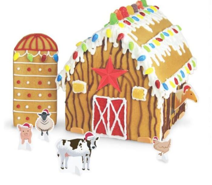 Funny Gingerbread House Ideas - Woodland Holiday Gingerbread Barn Kit